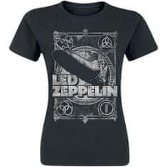 Tričko Led Zeppelin - Vintage Print LZ1 dámské černé