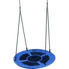 EcoToys Houpací kruh Čapí hnízdo (průměr 110cm) modrý