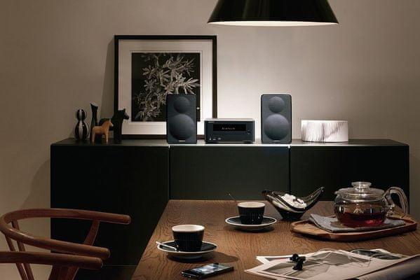 moderný mikrosystém onkyo cs-265dab bluetooth cd prehrávač skvelý digitálne spracovaný zvuk výkonný zosilňovač 2 kanály 20 w slúchadlový výstup super bass funkcia v 2 režimoch ovládanie basov a výšok usb aux in