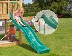 Jungle Gym Tmavo zelená plastová šmykľavka dlhá 265 cm