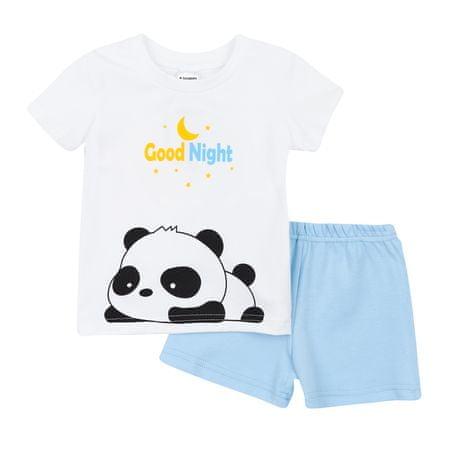 Garnamama otroška pižama Neon Summer, 104, bela/modra
