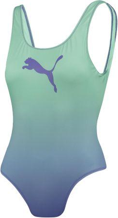 Puma egyrészes női fürdőruha Swim Swimsuit 90768602 S zöld