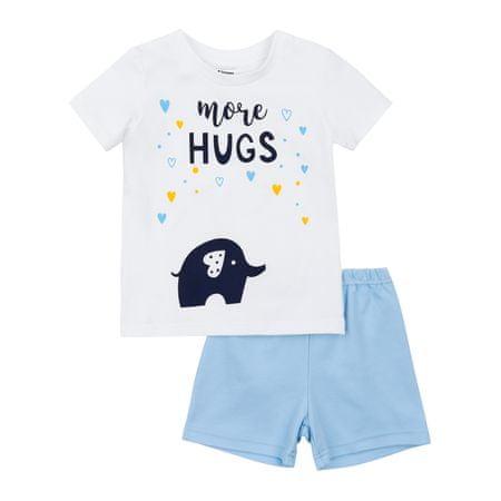 Garnamama gyerek pizsama sötétben világító nyomatatott mintával Neon Summer, 98, fehér/kék