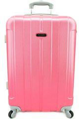 Agrado Cestovní kufr skořepinový na čtyřech kolečkách Agrado (M) 60l - fialová (M)