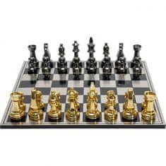 KARE Šachy na ocelové šachovnici 60cm