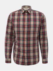 Selected Homme červeno-béžová kostkovaná slim fit košile Carl