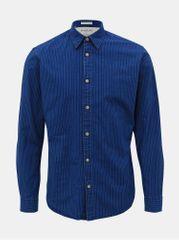 Selected Homme tmavě modrá pruhovaná slim fit košile Nolan