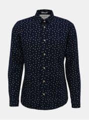 Selected Homme tmavě modrá vzorovaná slim fit košile Nolan