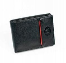 Pierre Andreus Elegantní pánská kožená peněženka Pierre A., černá