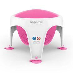 Angel Care Bath Seat, sedátko do vane, biela/ružová