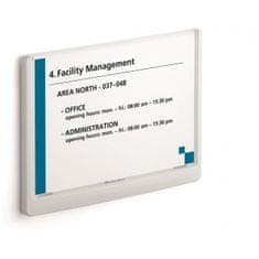 Durable Informačná tabuľka Click Sign 210x148,5 biela