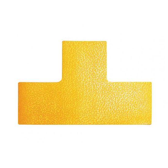 """Durable Podlahové značenie """"T"""" žlté 10ks"""