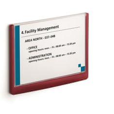 Durable Informačná tabuľka Click Sign 210x148,5 červená