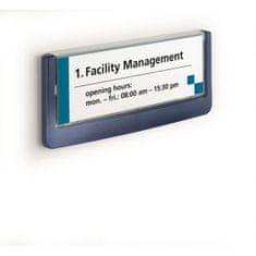 Durable Informačná tabuľka Click Sign 149x52,5 modrá