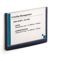 Durable Informačná tabuľka Click Sign 210x148,5 modrá