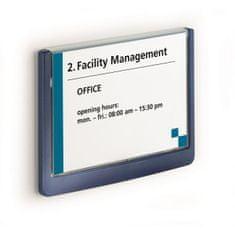 Durable Informačná tabuľka Click Sign 149x105,5 modrá