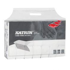 Katrin Papierové uteráky skladané ZZ 2-vrstvove Plus super Handy pack biele