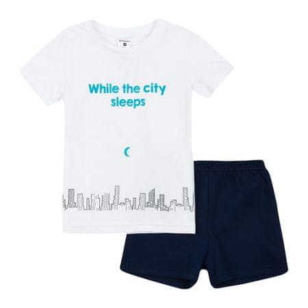 Garnamama gyerek pizsama sötétben világító nyomatatott mintával Neon Summer, 134, fehér/kék