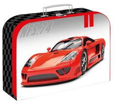 Karton P+P Laminált bőrönd, 34 cm, Auto