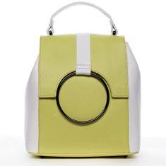 Delami Vera Pelle Módny mestský dámsky kožený batôžtek Aglaé žltá/biela