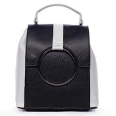 Delami Vera Pelle Módny mestský dámsky kožený batôžtek Aglaé čierna/biela