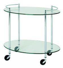 Mørtens Furniture Servírovací vozík Stein, 68 cm, strieborná