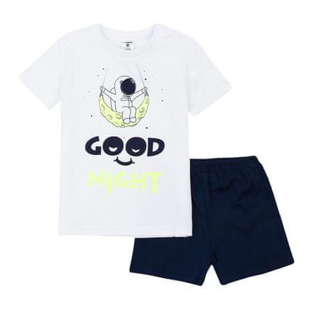 Garnamama gyerek pizsama sötétben világító nyomatatott mintával Neon Summer, 128, fehér/kék