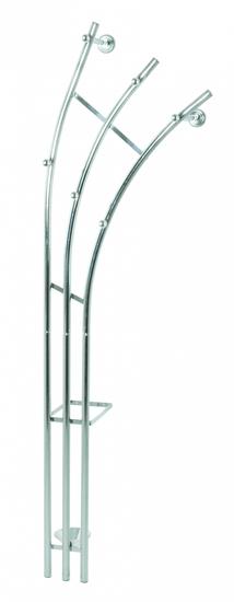 Mørtens Furniture Nástenný vešiak Agila, 184 cm, strieborná