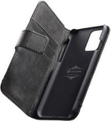 CellularLine Prémiové kožené pouzdro typu kniha Supreme pro Samsung Galaxy S20+ SUPREMECGALS11K, černé