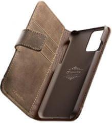 CellularLine Prémiové kožené pouzdro typu kniha Supreme pro Samsung Galaxy S20+ SUPREMECGALS11N, hnědé