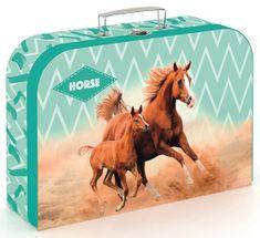 Karton P+P Laminált bőrönd, 34 cm, Ló romantic