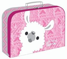 Karton P+P Laminált bőrönd, 34 cm, Láma