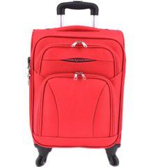 Agrado Cestovní textilní kufr na čtyřech kolečkách Agrado (S) 45l - červená