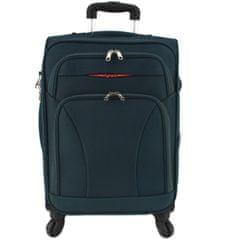 Agrado Cestovní textilní kufr na čtyřech kolečkách Agrado (L) 110l - tmavě zelená