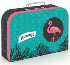 Karton P+P Laminált bőrönd, 34 cm, Flamingó