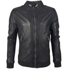 Gipsy Pánská černá kožená bunda s úpletem GRAHAN