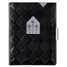 Exentri Černá kožená peněženka na karty EXENTRI