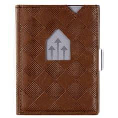 Exentri Hnědá kožená peněženka na karty EXENTRI