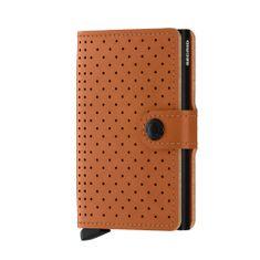 Secrid Kožená hnědá perforovaná peněženka Miniwallet perforated SECRID