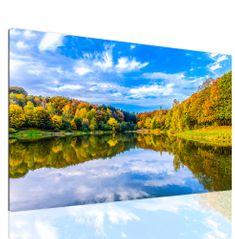 InSmile Obraz jezerní krajina Velikost: 120x80 cm