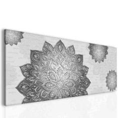 InSmile Mandala kovově šedá Velikost: 150x60 cm