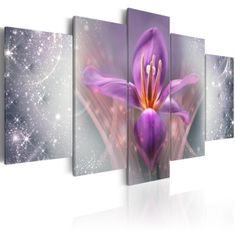 Murando DeLuxe Pětidílný obraz - fialové snění Velikost (šířka x výška): 100x50 cm