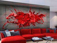 Murando DeLuxe 3D červená tapeta Rozměry (š x v) a Typ: 200x140 cm - vliesové