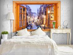 Murando DeLuxe Okno do Benátek 3D rapeta Rozměry (š x v) a Typ: 200x140 cm - vliesové