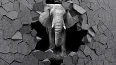 Dalenor 3D obraz Slon v kameni, 90x60 cm