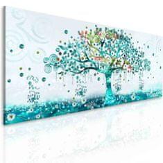 InSmile Obrazy tyrkysový strom Velikost: 150x60 cm