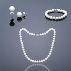 Buka Jewelry Buka Perlová souprava Mutiara Tiga 9,5 AA – bílá 813