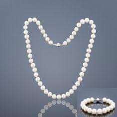 Buka Jewelry Buka Perlový set Mutiara L 9,5 AA (perlový náramek a náhrdelník) – bílá 815