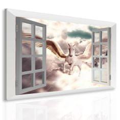 InSmile Obraz snová pohádka za oknem Velikost: 100x80 cm