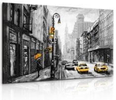 InSmile Obraz malebné ulice New Yorku Velikost: 90x60 cm